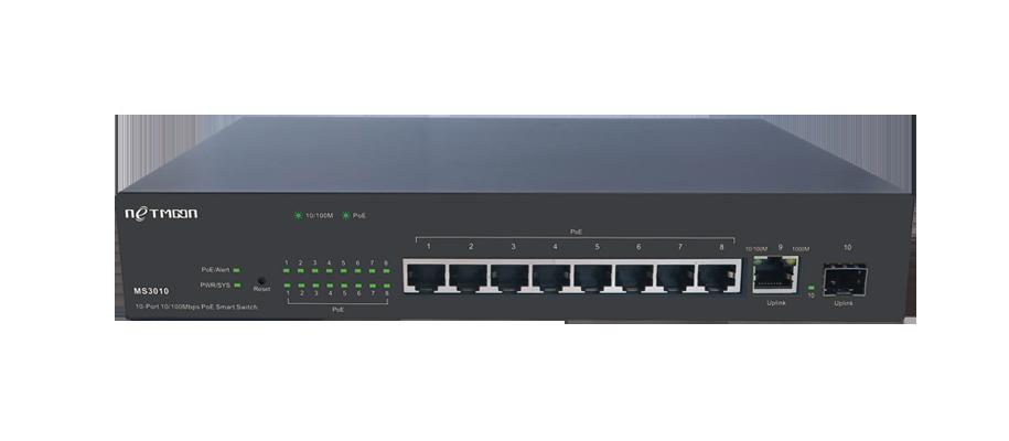 网管型PoE+供电交换机MS3010