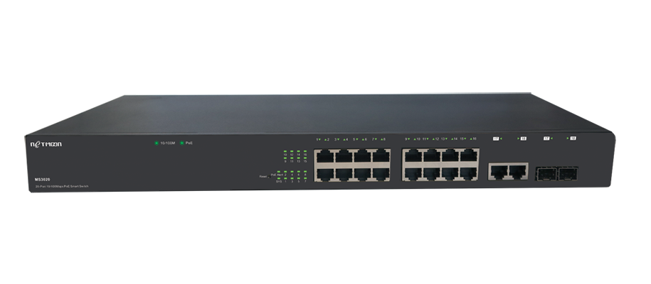 网管型PoE+供电交换机MS3020